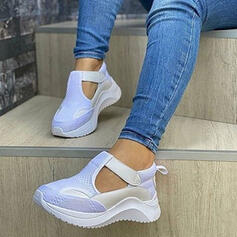 Femmes PU Autres Chaussures plates bout rond Tennis avec Velcro chaussures