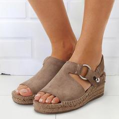 PU Talon compensé Sandales Compensée À bout ouvert Talons avec Autres chaussures