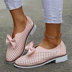 Femmes PU Autres bout rond Flâneurs Glisser sur avec Bowknot Ouvertes chaussures