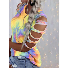 Tie Dye Accueil froid Manches 1/2 T-shirts