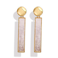 Geometric Alloy Women's Earrings (Set of 2)