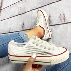 Femmes Mesh Talon plat Chaussures plates Low Top avec Ouvertes chaussures