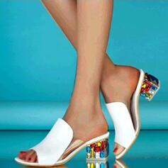 Femmes PU Talon bottier Sandales Escarpins À bout ouvert Chaussons Talons avec Autres chaussures