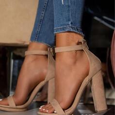 Femmes PU Talon bottier Escarpins À bout ouvert avec Boucle Ouvertes chaussures