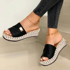 Women's Suede Wedge Heel Sandals Slippers With Others Solid Color shoes