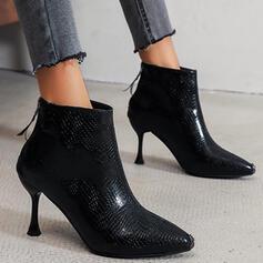 Women's Suede Kitten Heel Pumps Boots Low Top Heels Pointed Toe With Zipper Solid Color shoes