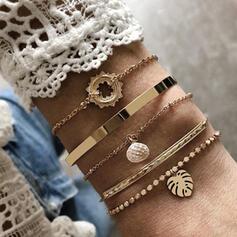 Attractive Charming Pretty Elegant Alloy With Leaf Bracelets Charm Bracelets 5 PCS