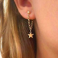 Simple Étoile Alliage Femmes Dames Boucles d'oreilles 2 PCS