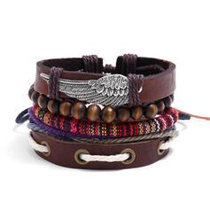 Unique Exquis élégant Alliage Similicuir Bracelets Bijoux de plage