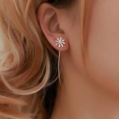 Simple Alliage avec Glands Fleur(s) Boucles d'oreilles (Lot de 2)