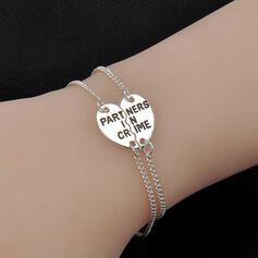 Charme Jolie Artistique Romantique Alliage avec Coeur Dames Bracelets
