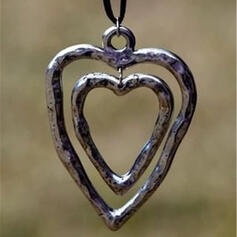 Style Classique Coeur La Saint-Valentin Alliage Corde tressée Femmes Colliers