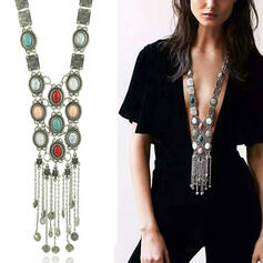 Boho Attractive Charming Elegant Artistic Delicate Natural Stone Alloy Resin Women's Ladies' Girl's Necklaces 1 PC