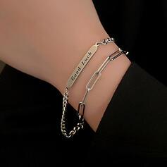 Unique Exquisite Stylish Alloy With Chain Décor Women's Ladies' Girl's Bracelets