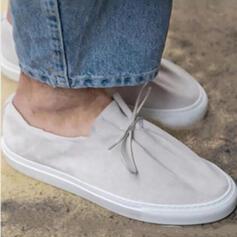 Femmes Similicuir Talon plat Chaussures plates bout rond Espadrille Tennis avec Ouvertes chaussures