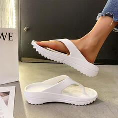 Femmes EVA Talon plat Sandales Chaussures plates À bout ouvert Tongs Chaussons avec Ouvertes chaussures