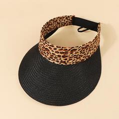 Dames/Femmes Unique/Simple Raphia paille Chapeaux de plage / soleil