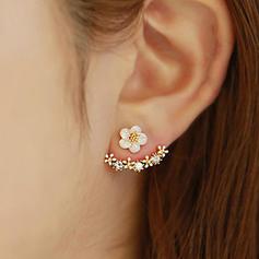 Beau Alliage avec Strass Dames Boucles d'oreilles