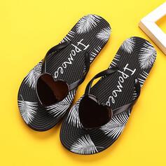 Femmes PVC Talon plat Sandales Chaussures plates À bout ouvert Tongs Chaussons avec Ouvertes Rayé chaussures
