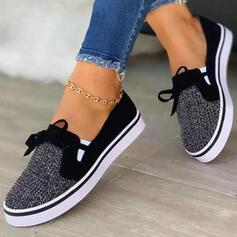 Femmes Tissu Mesh Talon plat Chaussures plates bout rond Espadrille Tennis avec Ouvertes chaussures