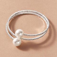 Brillant Alliage Strass avec Strass De faux pearl Femmes Dames Bracelets