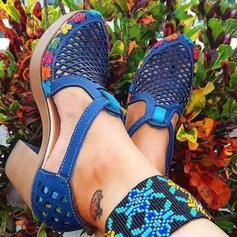 Femmes PU Talon bottier Sandales Escarpins Plateforme Bout fermé Talons avec Ouvertes Dot chaussures