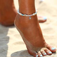 Refroidir Bohème Alliage avec Coquille étoile de mer Bracelets de cheville