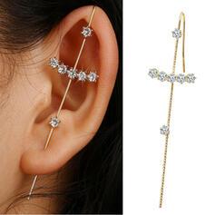 Brillant Simple Croix Alliage Strass Femmes Boucles d'oreilles
