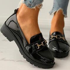 Femmes PU Autres Chaussures plates bout rond Glisser sur avec Boucle Couleur unie chaussures