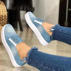 Femmes Treillis Talon plat Chaussures plates chaussures