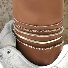élégant Alliage Femmes Bracelets de cheville 5 PCS