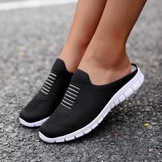 Femmes Tissu Mesh Talon plat Chaussures plates Flâneurs Glisser sur avec Couleur unie chaussures