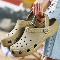 Femmes EVA Talon plat Sandales Chaussures plates Bout fermé Chaussons avec Ouvertes Couleur unie chaussures