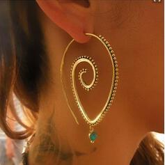 Boho Twist Alloy Earrings 2 PCS