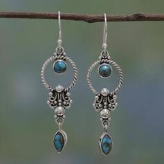 Boho Charme Alliage Turquoise Boucles d'oreilles 2 PCS