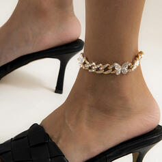 Unique élégant Métal avec Plaqué or Femmes Dames Bracelets de cheville