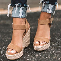 Suede Wedge Heel Sandals With Others shoes