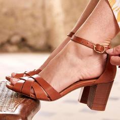 Femmes PU Talon bottier Sandales Escarpins Talons avec Boucle chaussures