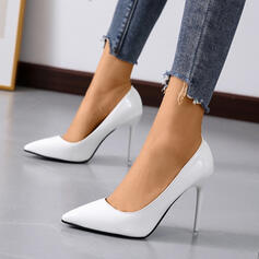 Women's Leatherette Stiletto Heel Pumps Heels Pointed Toe With Solid Color shoes