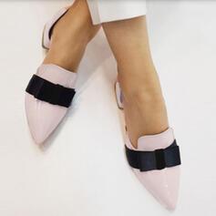 Femmes PU Talon bottier Bout pointu avec Bowknot chaussures