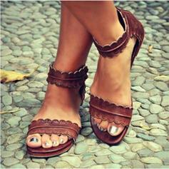 PU Talon plat Sandales Chaussures plates À bout ouvert avec Autres chaussures