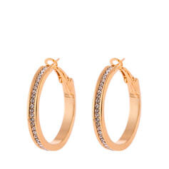 Oval Alloy With Gold Plated Women's Earrings