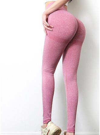 De chinlon Couleur unie Pantalons de yoga/fitness Évacuation de l'humidité