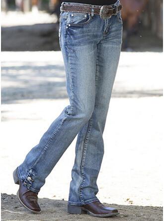Froncé Grande taille Élégante Maigre Jeans