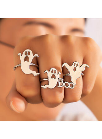 Attractive Charming Artistic Delicate Alloy Women's Ladies' Rings 3 PCS
