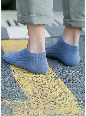 Couleur unie/Crochet Multicolore/Chaussette de cheville Chaussettes (Ensemble de 5 paires)