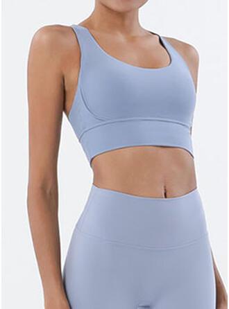 Spandex Nylon De chinlon Couleur unie Sous-vêtements de sport Évacuation de l'humidité