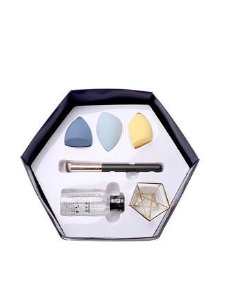 6 PCS Facile Classique Nettoyage des pinceaux de maquillage Ensembles d'éponge de maquillage