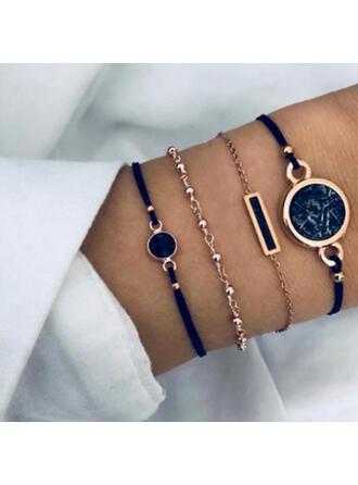 Attractive Charming Artistic Delicate Alloy Women's Ladies' Bracelets 4 PCS