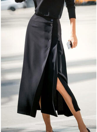 Solid Maxi Office/Business Plus Size